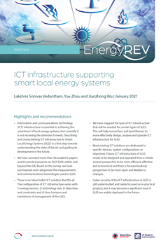 ICT Infrastructure Supporting Smart Local Energy Systems